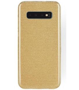 """Auksinės spalvos silikoninis blizgantis dėklas Samsung Galaxy S10 Plus telefonui """"Shining Case"""""""