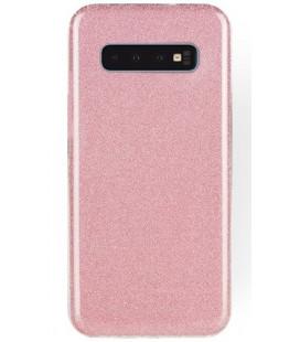 """Rožinis silikoninis blizgantis dėklas Samsung Galaxy S10 Plus telefonui """"Shining Case"""""""