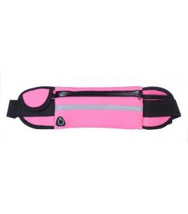 Universalus dėklas sportuojantiems su butelio laikikliu ir ausinėms skirta anga - Rožinis