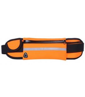 Universalus dėklas sportuojantiems su butelio laikikliu ir ausinėms skirta anga - Oranžinis