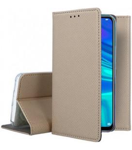 """Auksinės spalvos atverčiamas dėklas Huawei P Smart 2019 telefonui """"Smart Book Magnet"""""""