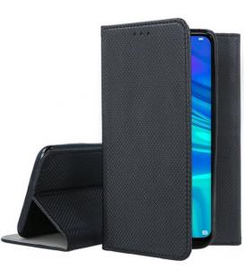 """Juodas atverčiamas dėklas Huawei P Smart 2019 telefonui """"Smart Book Magnet"""""""