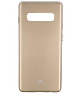 """Auksinės spalvos silikoninis dėklas Samsung Galaxy S10 Plus telefonui """"Mercury Goospery Pearl Jelly Case"""""""