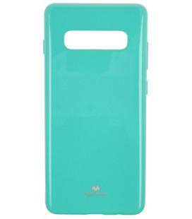 """Mėtos spalvos silikoninis dėklas Samsung Galaxy S10 Plus telefonui """"Mercury Goospery Pearl Jelly Case"""""""