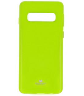 """Žalias silikoninis dėklas Samsung Galaxy S10 Plus telefonui """"Mercury Goospery Pearl Jelly Case"""""""