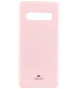 """Šviesiai rožinis silikoninis dėklas Samsung Galaxy S10 Plus telefonui """"Mercury Goospery Pearl Jelly Case"""""""