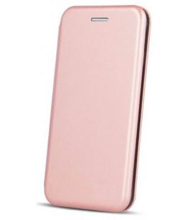 """Rausvai auksinės spalvos atverčiamas dėklas Samsung Galaxy A51 telefonui """"Book Elegance"""""""