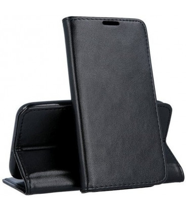 """Juodas atverčiamas dėklas Samsung Galaxy Xcover 4 / Xcover 4S telefonui """"Smart Magnetic"""""""