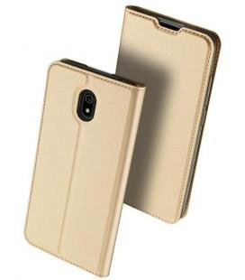 """Auksinės spalvos atverčiamas dėklas Xiaomi Redmi 8A telefonui """"Dux Ducis Skin Pro"""""""