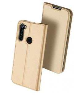 """Auksinės spalvos atverčiamas dėklas Xiaomi Redmi Note 8T telefonui """"Dux Ducis Skin Pro"""""""