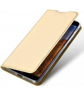 """Auksinės spalvos atverčiamas dėklas Xiaomi Redmi 8 telefonui """"Dux Ducis Skin Pro"""""""