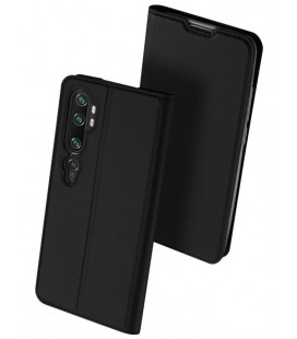 """Juodas atverčiamas dėklas Xiaomi Mi Note 10 / Note 10 Pro telefonui """"Dux Ducis Skin Pro"""""""
