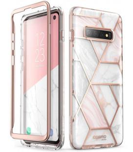 """Dėklas su marmuro efektu Samsung Galaxy S10 telefonui """"Supcase Cosmo"""""""