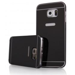 Pilkas metalinis rėmelis su veidrodiniu dangteliu Samsung Galaxy S6 G920 telefonui