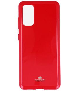 """Rožinis silikoninis dėklas Samsung Galaxy S20 Plus telefonui """"Mercury Goospery Pearl Jelly Case"""""""