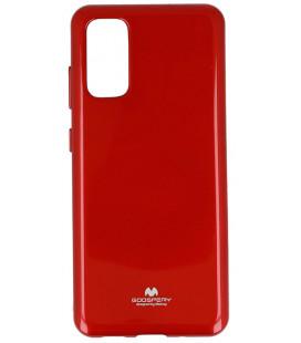 """Raudonas silikoninis dėklas Samsung Galaxy S20 Plus telefonui """"Mercury Goospery Pearl Jelly Case"""""""