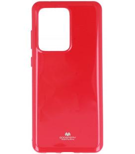 """Rožinis silikoninis dėklas Samsung Galaxy S20 Ultra telefonui """"Mercury Goospery Pearl Jelly Case"""""""