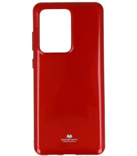 """Raudonas silikoninis dėklas Samsung Galaxy S20 Ultra telefonui """"Mercury Goospery Pearl Jelly Case"""""""
