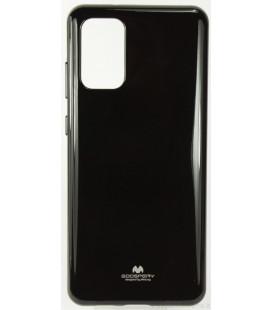 """Juodas silikoninis dėklas Samsung Galaxy S20 Plus telefonui """"Mercury Goospery Pearl Jelly Case"""""""