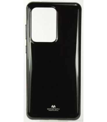 """Juodas silikoninis dėklas Samsung Galaxy S20 Ultra telefonui """"Mercury Goospery Pearl Jelly Case"""""""