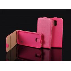 """Rožinis atverčiamas dėklas Samsung Galaxy J5 J500 telefonui """"Telone Vertical POCKET"""""""