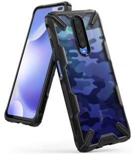 """Juodas (Camo) dėklas Xiaomi Mi 10T telefonui """"Ringke Fusion X"""""""