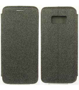 """Tamsiai pilkas atverčiamas dėklas Samsung Galaxy S8 Plus telefonui """"Book Vennus Cotton"""""""