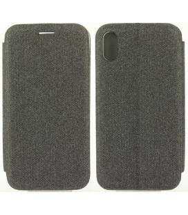 """Tamsiai pilkas atverčiamas dėklas Apple iPhone X/XS telefonui """"Book Vennus Cotton"""""""