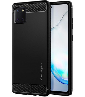 "Juodas dėklas Samsung Galaxy Note 10 Lite telefonui ""Spigen Rugged Armor"""