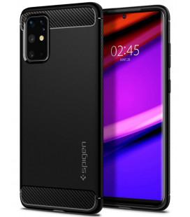 """Juodas dėklas Samsung Galaxy S20 Plus telefonui """"Spigen Rugged Armor"""""""