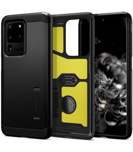 "Juodas dėklas Samsung Galaxy S20 Ultra telefonui ""Spigen Tough Armor"""
