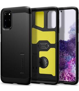 """Juodas dėklas Samsung Galaxy S20 Plus telefonui """"Spigen Tough Armor"""""""