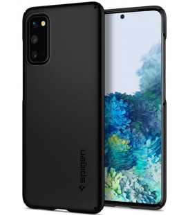 "Juodas dėklas Samsung Galaxy S20 telefonui ""Spigen Thin Fit"""