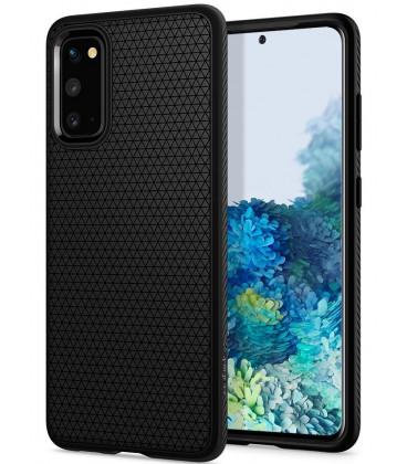 """Juodas dėklas Samsung Galaxy S20 telefonui """"Spigen Liquid Air"""""""