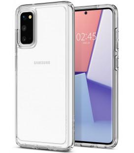 "Skaidrus dėklas Samsung Galaxy S20 telefonui ""Spigen Ultra Hybrid"""