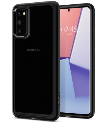 "Matinis juodas dėklas Samsung Galaxy S20 telefonui ""Spigen Ultra Hybrid"""