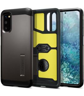 "Pilkas dėklas Samsung Galaxy S20 telefonui ""Spigen Tough Armor"""