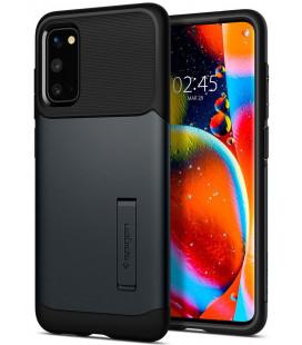 "Pilkas dėklas Samsung Galaxy S20 telefonui ""Spigen Slim Armor"""