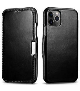 """Juodas odinis atverčiamas dėklas Apple iPhone 11 Pro telefonui """"iCarer Vintage"""""""