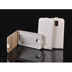"""Baltas atverčiamas dėklas Sony Xperia M4 Aqua telefonui """"Telone Vertical POCKET"""""""