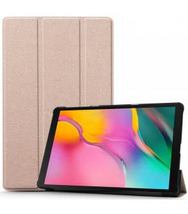"""Rausvai auksinės spalvos atverčiamas dėklas Samsung Galaxy Tab A 10.1 2019 T510 / T515 planšetei """"Tech-Protect Smartcase"""""""