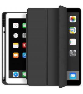 """Juodas atverčiamas dėklas Apple iPad 10.2 2019 planšetei """"Tech-Protect SC Pen"""""""