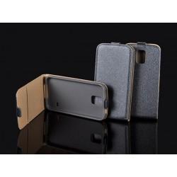 """Grfito spalvos atverčiamas dėklas Samsung Galaxy S7 G930 telefonui """"Telone Vertical POCKET"""""""