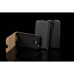 """Juodas atverčiamas dėklas LG K10 K430 telefonui """"Telone Vertical POCKET"""""""
