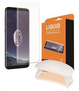 """Lenktas apsauginis grūdintas stiklas Samsung Galaxy S9 telefonui """"T-Max UV"""""""