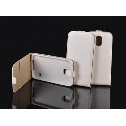 """Baltas atverčiamas dėklas LG K10 K430 telefonui """"Telone Vertical POCKET"""""""