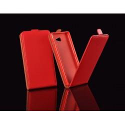 """Raudonas atverčiamas dėklas LG K10 K430 telefonui """"Telone Vertical POCKET"""""""