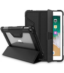 """Juodas atverčiamas dėklas Apple iPad 10.2 2019 planšetei """"Nillkin Armor Leather Case"""""""