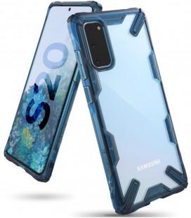 """Mėlynas dėklas Samsung Galaxy S20 telefonui """"Ringke Fusion X"""""""