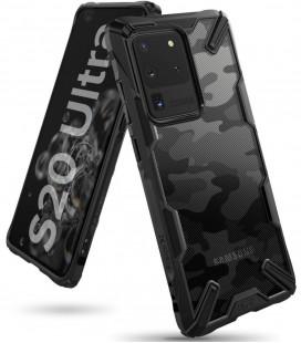 """Juodas (Camo) dėklas Samsung Galaxy S20 Ultra telefonui """"Ringke Fusion X"""""""